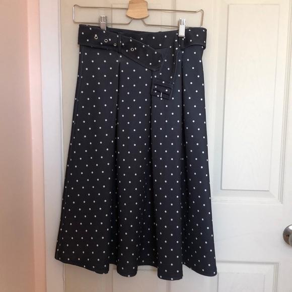Polka dots skirt a-line skirt